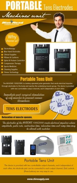 Portable Tens Electrodes Machines Unit | 8775639660 | chirosupply.com