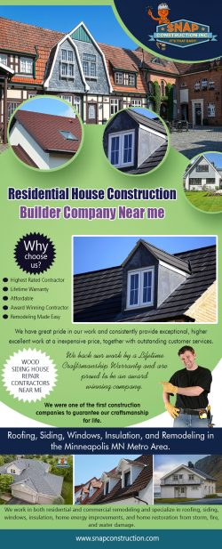 Residential House Construction Builder Company Near Minneapolis