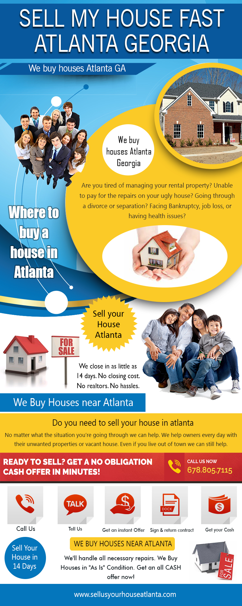 Sell my House Fast Atlanta Georgia|www.sellusyourhouseatlanta.com|6788057115