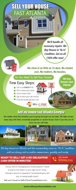 Sell Your House Fast|www.sellusyourhouseatlanta.com|6788057115