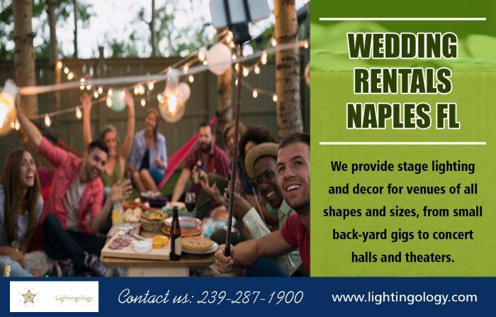 Wedding rentals Naples FL