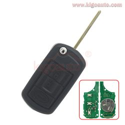 Flip key 3button HU92 key blade with ID44 chip for Landrover LR4 Rangerover