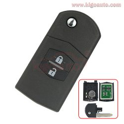 Flip key 2 button 434Mhz 315Mhz for Mazda 3 6