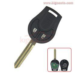 CWTWB1U761 Remote key 2 button 434Mhz for Nissan Micra Juke Note