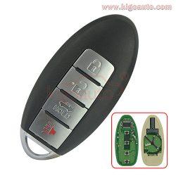 CWTWB1U808 smart key 4 button 315Mhz for Nissan