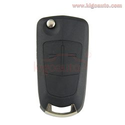 Flip key shell 2 button DWO5 for Opel Antara 2008 2009 2010