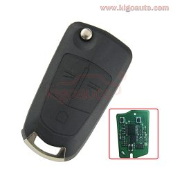 Remote key 3 button DWO5 434Mhz for Opel Antara 2008 2009 2010 flip key
