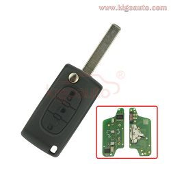 CE0523 Flip remote key 3 button VA2 433Mhz pcf7941 ASK for Citroen C2 C3 C4 C5 C6