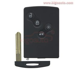 Remote Smart Card Key 4 button 433.9mhz PCF7952 for Renault Koleos one button start