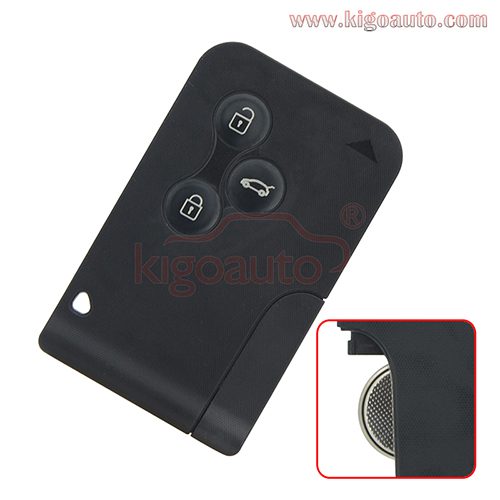 7701209132 Remote smart Key card 433Mhz PCF7947 3 button for Renault Megane II Megane 2 Scenic I ...