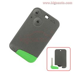 Remote Smart key card 2 button 433Mhz ID46-PCF7947 for Renault Laguna Espace Vel-Satis 2003 2004 ...