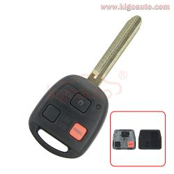 HYQ1512V/89070-60090 Remote head Key 3 button 315Mhz TOY43 blade for Toyota Land Cruiser
