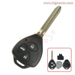 DENSO HYQ12BBY Remote key 3 button 434Mhz TOY43 blade for Toyota Camry Corolla