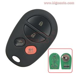 GQ43VT20T Remote fob 4 button 315Mhz for Toyota Highlander Sequoia Sienna