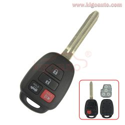 GQ4-52T remote key 4 button 314.4Mhz for Toyota RAV4 Highlander 2014 2015