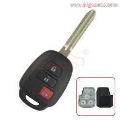 89070-06421/06420 Remote key 3 button 314.4Mhz for Toyota Prius C HYQ12BDM