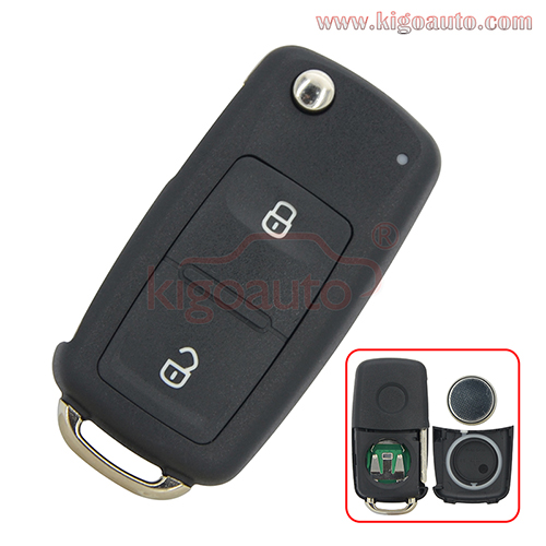 5K0837202AD 2 button HU66 434Mhz remote key for 2012 VW Passat Polo Golf Jetta Beetle Tiguan