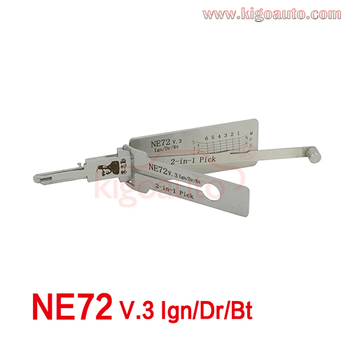 LISHI 2in1 PICK NE72 V.3 Ign/Dr/Bt