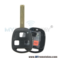 Remote key for Lexus 3 button TOY48 short 315mhz