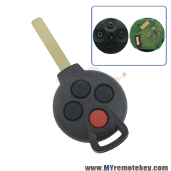KR55WK45144 Remote car key 315MHz 4 Button for Mercedes Benz Smart Fortwo