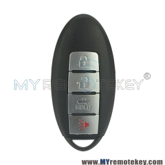 Smart key keyless entry 3 button with panic KR55WK49622 315 mhz for Nissan