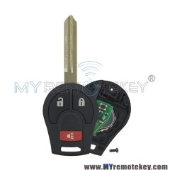 Remote key 2 button with panic for 2008 – 2013 Nissan Cube Rogue 315mhz 434mhz with ID46 c ...