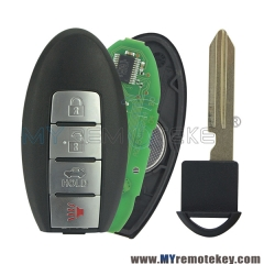 Smart key keyless entry 3 button with panic KR55WK48903 315 mhz for Nissan Altima Maxima
