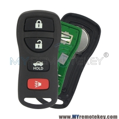 Remote fob for Nissan Maxima 2002 – 2006 4 button KBRASTU15 315mhz