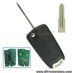 Flip remote car key 2 button DWO5 434Mhz for Opel Antara 2008 2009 2010