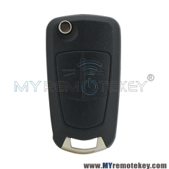 Remote flip car key 2 button VALEO 736 743-A 433mhz for Vauxhall Opel Astra H 2004 2005 2006 200 ...
