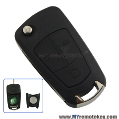 Flip remote car key 434Mhz 3 button HU100 for Vauxhall Opel Vectra C DELPHI G3-AM433TXV1.0