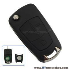 Flip remote car key 434Mhz 3 button HU100 for Vauxhall Opel Vectra C DELPHI G3-AM433TXV1.0
