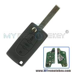 CE0523 Flip remote key for Citroen Peugeot 3 button 433mhz HU83 PCF7941 ASK electronic circuit board