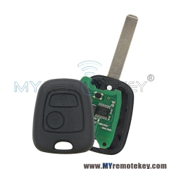 Remote key for citroen peugeot 2 button 434mhz VA2 ID46 electronic chip This is a complete