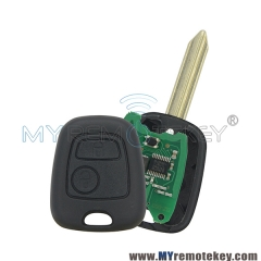 Remote key SX9 2 Button 433 mhz with ID46 electronic chip for Peugeot Citroen Xsara Picasso Berl ...