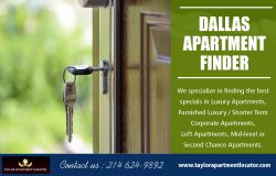 Apartment Locator Dallastx | 2146249892 | taylorapartmentlocator.com