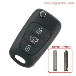 Flip remote key shell 3 button for Hyundai I20 I30