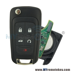 Flip remote key for Chevrolet Buick ID46 chip 315mhz OEM circuit board