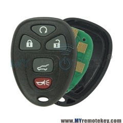 OUC60270 Remote fob for Buick Cadillac Chevrolet 5 button 315mhz