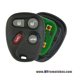 Remote Fob for Buick Cadillac Chevrolet Pontiac 4 button 315mhz KOBLEAR1XT For Buick Lesabre Cad ...