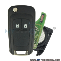 Remote key for Buick 2 button 433mhz GM ID46 chip