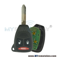 KOBDT04A Remote head key 2 button with Panic for Chrysler Dodge Jeep 315mhz