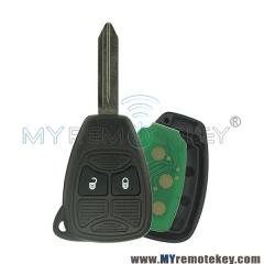 Remote head key 2 button 434Mhz for Chrysler PT Cruiser Sebring Dodge Avenger Jeep Liberty 2008  ...
