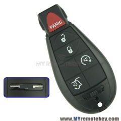 Keyless entry remote key fob Fobik for Chrysler Dodge Jeep 4 button with panic M3N5WY783X