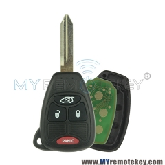 Remote car key head for Chrysler Dodge Jeep 3 button with panic OHT692427AA 315mhz