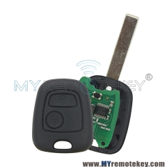 Remote key for citroen peugeot 2 button 434mhz HU83 ID46 electronic chip