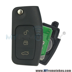 Flip remote car key for Ford B-Max Fiesta Focus Galaxy Kuga S-Max 2008 2009 2010 2011 ID63 chip  ...
