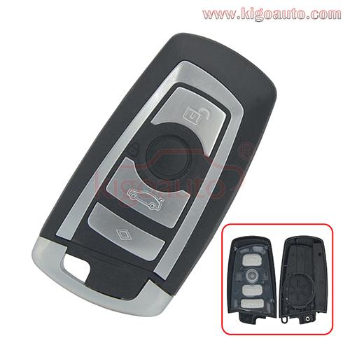 Smart key case 4 button for BMW X3 5 7 series