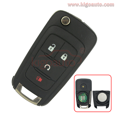 2014 Chevrolet Impala Remote Flip Key 4 Button 315 Mhz FCC KR55WK50073