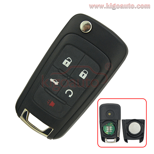 Remote key 4 button with panic 315 Mhz 13500226 for Chevrolet Equinox Camaro flip key V2T01060512